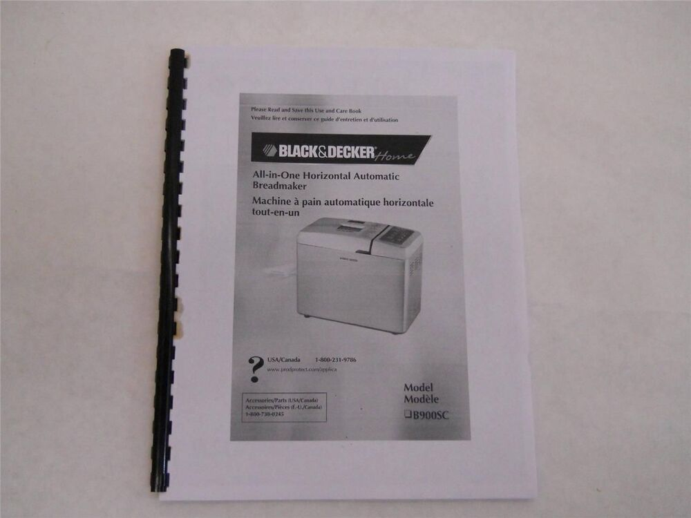 black and decker all in one breadmaker manual b2300