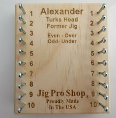 how to use alexander turks head jig