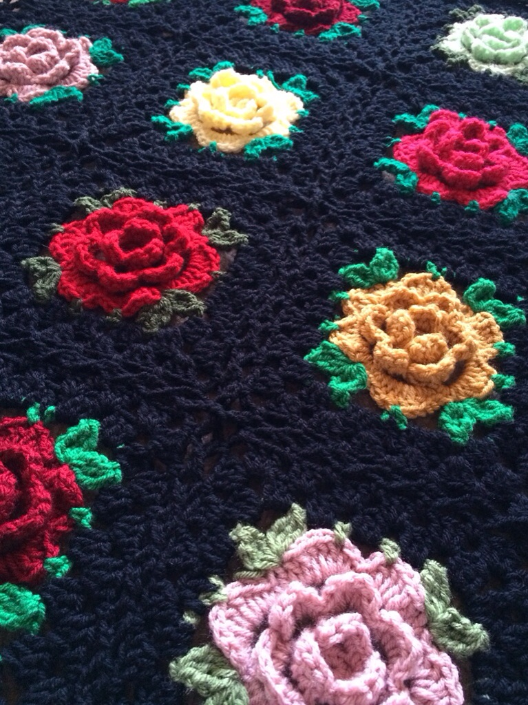crochet flower granny square instructions