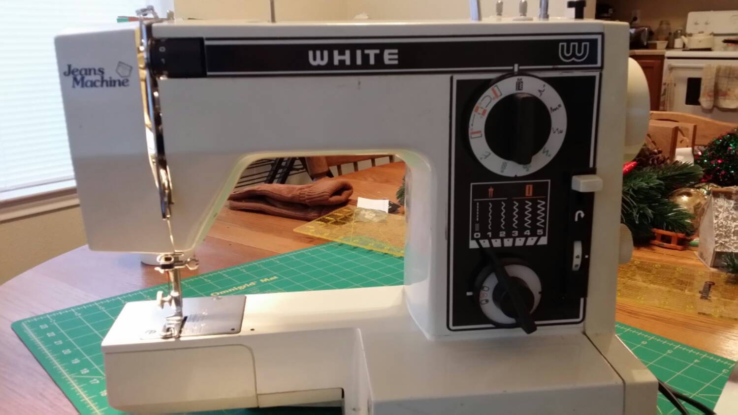 white jeans machine sewing machine model 1099 manual